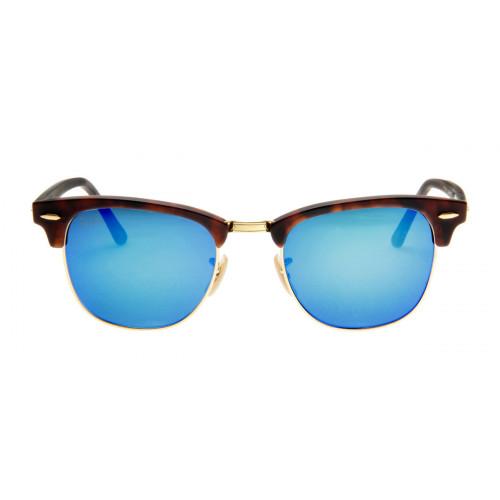 Óculos de Sol Ray Ban Clubmaster Espelhado Tartaruga