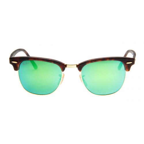 Óculos de Sol Ray Ban Clubmaster Wayfarer Tartaruga Lente Verde Espelhado
