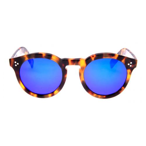 6b91bcecf378d Óculos Illesteva Leonard 2 - Lente Azul Espelhado Armação Tartaruga ...