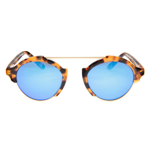 7e4e9384d4767 Óculos Illesteva Milan 3 - Lente Azul Espelhado Armação Tartaruga ...