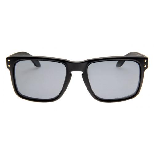 Óculos Oakley Holbrook Preto Fosco Lente Polarizada Preta - QÓculos.com 73d2c76556