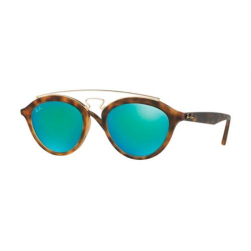 Óculos Ray-Ban Gatsby RB4257 Armação Tartaruga Lentes Espelhada Verde