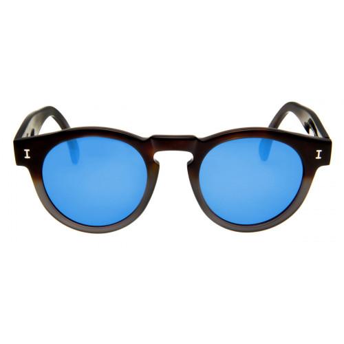 e073eab78339a Óculos Illesteva Leonard - Azul Espelhado - Óculos Illesteva Redondo ...