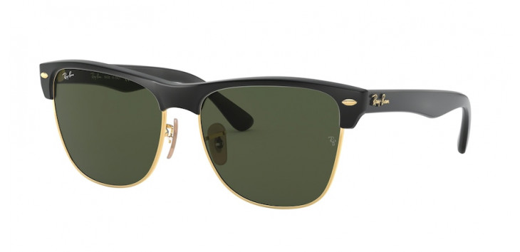 Óculos Ray-Ban RB4175 Clubmaster Oversized 57 - Preto - 877
