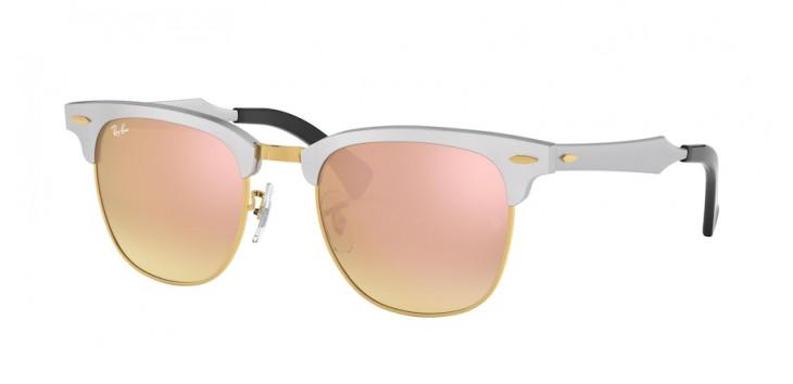 Óculos Ray-Ban RB3507 Clubmaster Aluminum 51 - Aluminum - Cinza - 137/7O