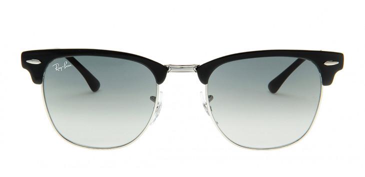 Óculos Ray-Ban RB3716 Clubmaster 51 - Preto e Prata - 900471