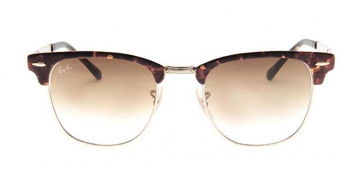 Óculos Ray-Ban RB3716 Clubmaster 51 - Tartaruga e Dourado - 9008