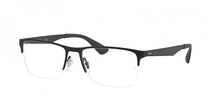Óculos Ray-Ban RX6335 56 - Preto Fosco - 2503