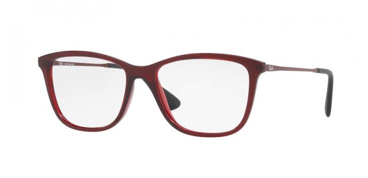 Ray-Ban RX7135L 54 - Vermelho Translúcido - 5699