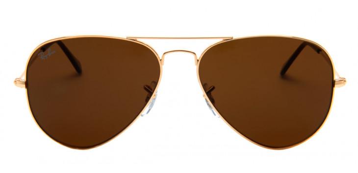 d768e9f1b ... Óculos Ray-Ban RB3025L Aviador 58 - Dourado e Marrom - 001/33