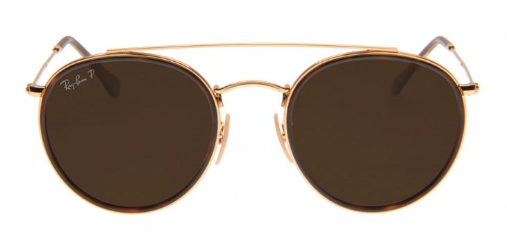 Óculos Ray-Ban RB3647-N 51 - Dourado e Marrom - 001/57 - Polarizado