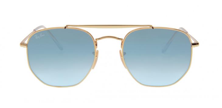 906991c1f ... Óculos Ray-Ban RB3648 Marshal 54 - Dourado e Azul - 001/3F ...