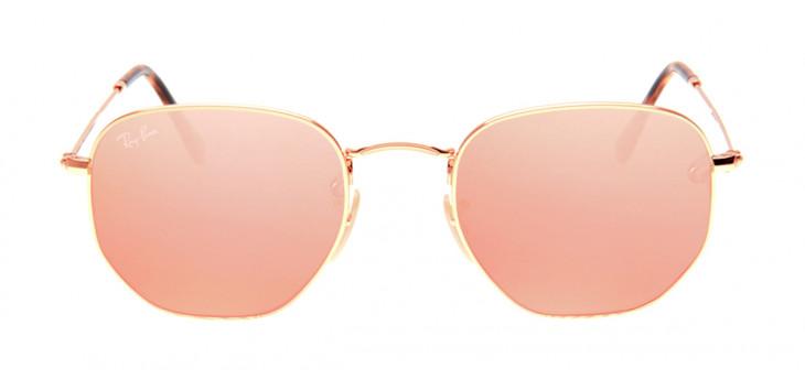 eb1f1c97d Óculos Ray-Ban RB3548-N Hexagonal 54 - Dourado e Rosê - 001/ ...