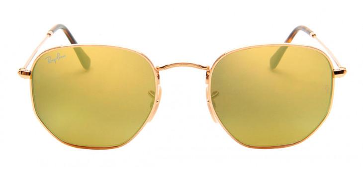 Ray Ban RB3548-N Hexagonal 54 - Dourado e Amarelo - 001/93