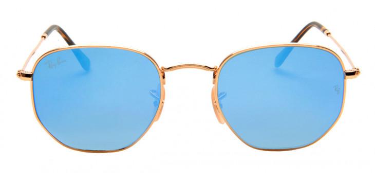 Ray Ban RB3548-N Hexagonal 54 - Dourado e Azul - 001/9O