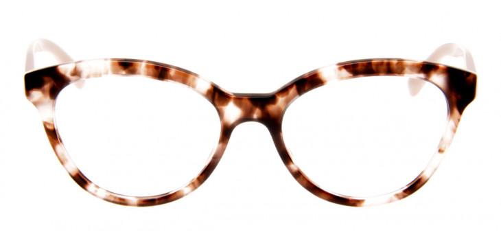 Óculos Prada Gatinho - Armação de Óculos Tartaruga e Rosa - VPR 11R