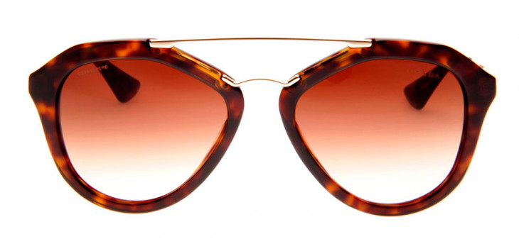Prada SPR12Q - Óculos de Sol Prada Feminino Marrom/Tartaruga