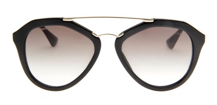 b7a3b1bbe1908 Prada SPR12Q - Óculos de Sol Prada Feminino Preto Dourado