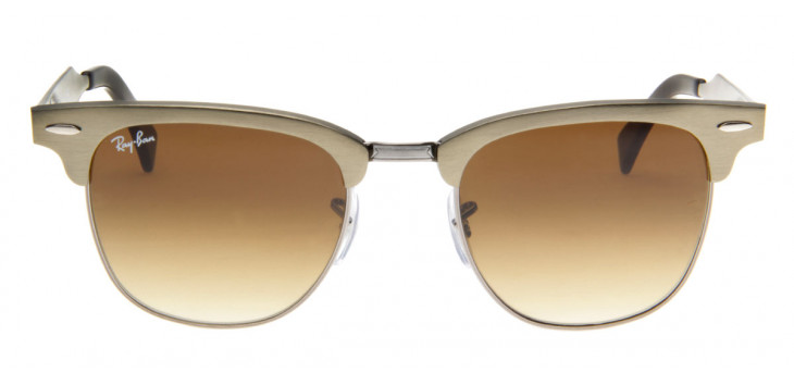 Óculos de Sol Ray Ban Clubmaster Aluminum Frontal