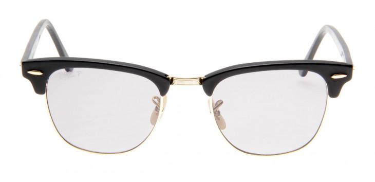 Óculos de Sol Ray Ban Clubmaster Preto Fosco Lente Polarizada