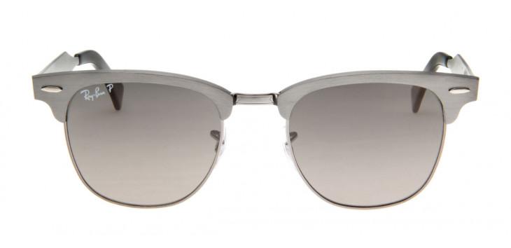 Óculos de Sol Ray Ray Ban Clubmaster Wayfarer Cinza Lente Polarizada