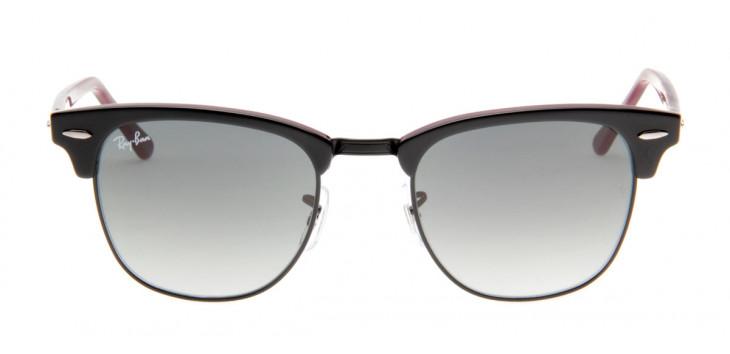 Óculos de Sol Ray Ban Clubmaster Wayfarer Preto Bordô