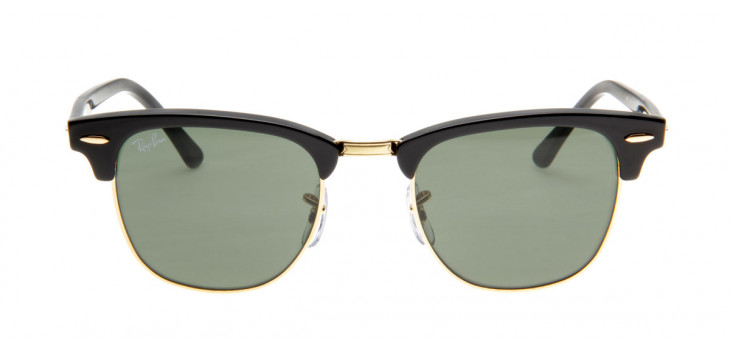 Óculos de Sol Ray Ban Clubmaster Wayfarer Preto Fosco G15