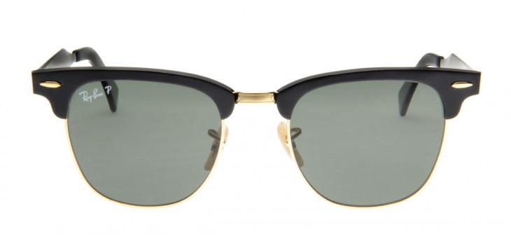 ebadcea5d Óculos de Sol Ray Ray Ban Clubmaster Wayfarer Preto Lente Polarizada