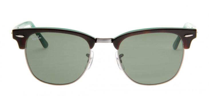 Óculos de Sol Ray Ban Clubmaster Wayfarer Tartaruga Verde Frontal