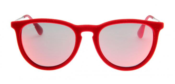 Óculos de Sol Ray Ban Erika Velvet Veludo Vermelho