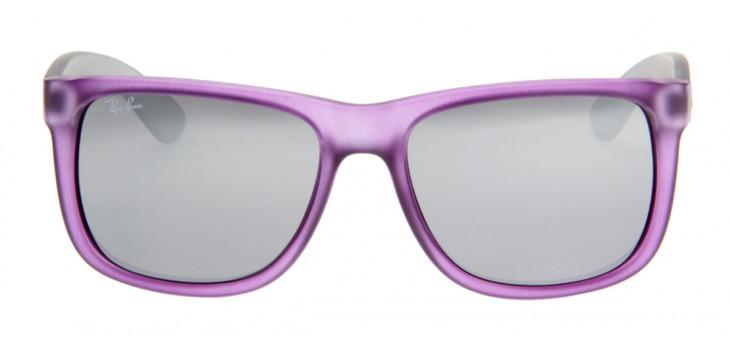 Óculos de Sol Ray Ban Justin Roxo e Cinza Translucido