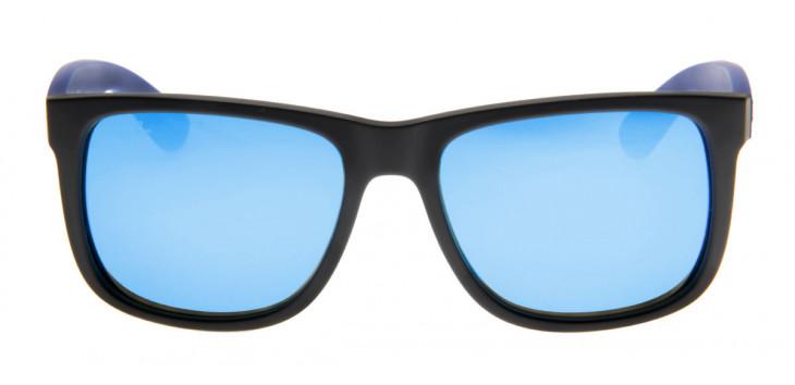 Óculos de Sol Ray Ban Justin Preto Fosco e Azul
