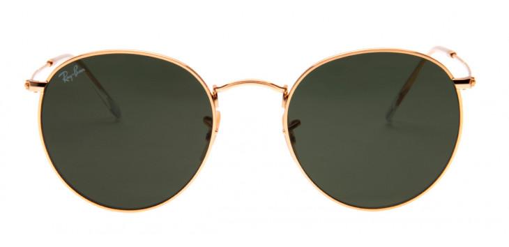 Óculos Ray-Ban RB3447 Round 53 - Dourado - 001