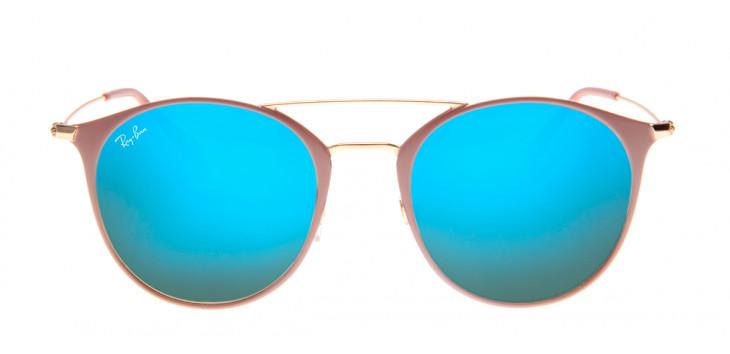 Óculos Ray-Ban RB3546 52 - Nude e Azul - 9011/8B