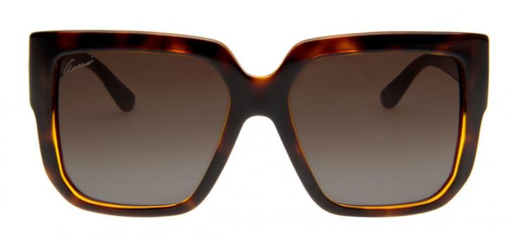 Óculos Gucci Feminino Quadrado - Lente Degradê Preto GG3713 S ... 8ab2d88964