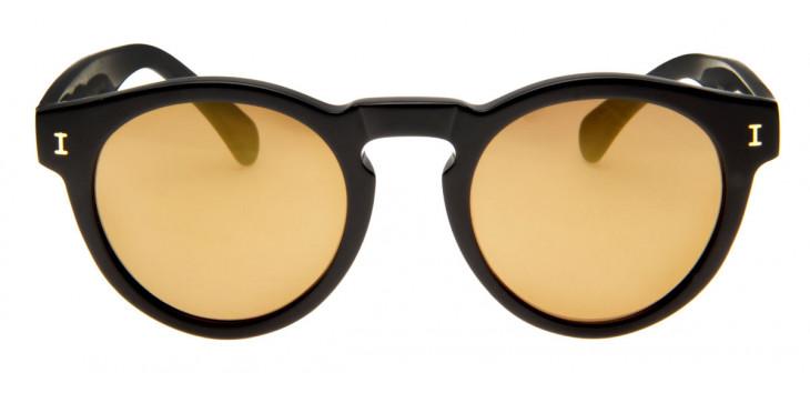 0f984abc08ba6 Óculos Illesteva Leonard Preto - Lente Espelhada Bege - QÓculos.com