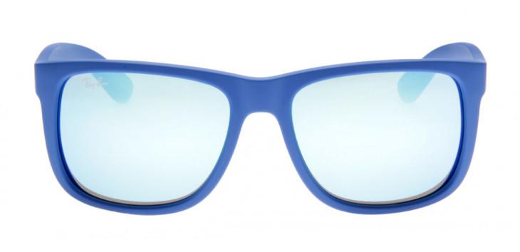 Ray-Ban RB4165 Justin - Lente Espelhada Azul - QÓculos.com 63e36c68c9