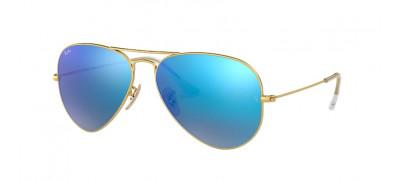 Ray-Ban RB3025 Aviador 58 - Dourado / Azul Espelhado - 112/17