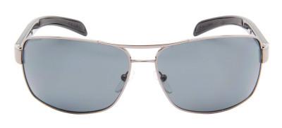 Prada SPS541 65 - Cinza Prata e Preto
