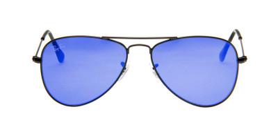Ray-Ban RJ9506S 50 - Preto Fosco e Azul - 201/55