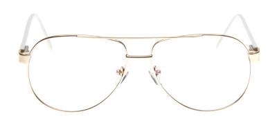 QÓ - J00153 Gold Aviador - Branco e Laranja