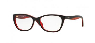 Vogue VO2961  53 - Preto e Vermelho Translúcido - 2312