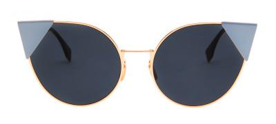 Fendi FF 0190/S 57 - Dourado e Azul - 000A9