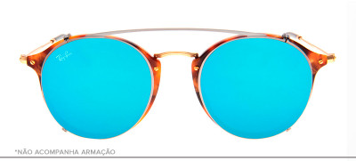 Ray-Ban Clip-On RB2447-C 49 - Prata e Azul - 2502/B7