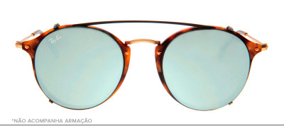 Ray-Ban Clip-On RB2447-C 49 - Preto e Prata - 2509/B8