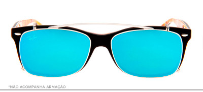Ray-Ban Clip-On RB5228-C 53 - Prata e Azul - 2501/B7