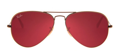Ray-Ban RB3025 Aviador 58 - Bronze Fosco e Pink - 167/2K