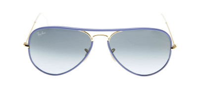 Ray-Ban RB3025JM Aviador Full Color 55 - Azul - 001/4M