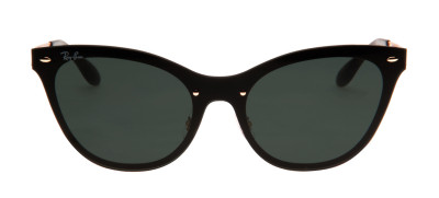 Ray-Ban RB3580-N Blaze Cat Eye 43 - Preto e Dourado - 043/71