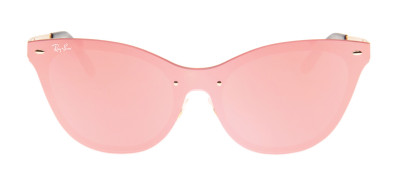 Ray-Ban RB3580-N Blaze Cat Eye 43 - Rosa e Dourado - 043/E4